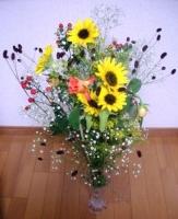 経営セミナーで頂いた花束